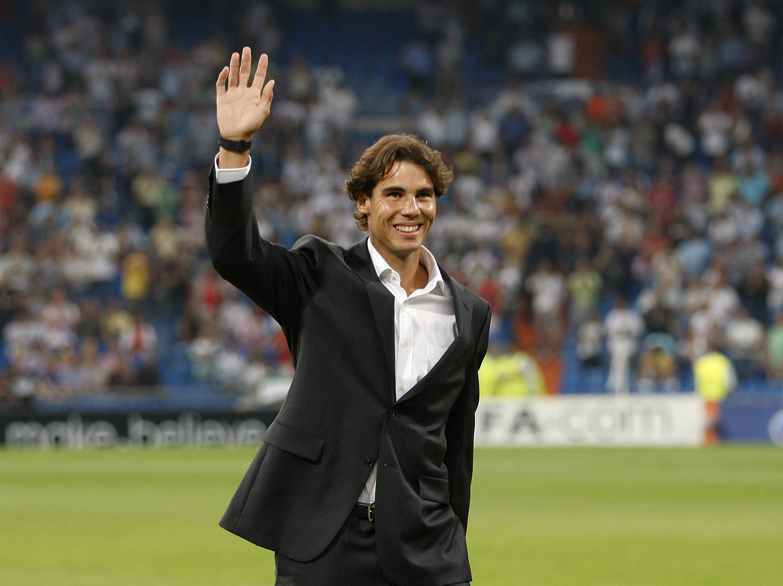 Rafa Nadal en el Santiago Bernabéu
