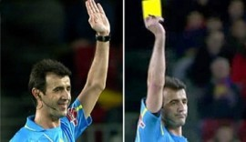 هل سيتم تطبيق القانون على نادي برشلونة بعد تعمد لاعبه الحصول على الكرت الأصفر [تقرير]  Perez%20lasa,%20sonrie,%20pique_42_ampliada