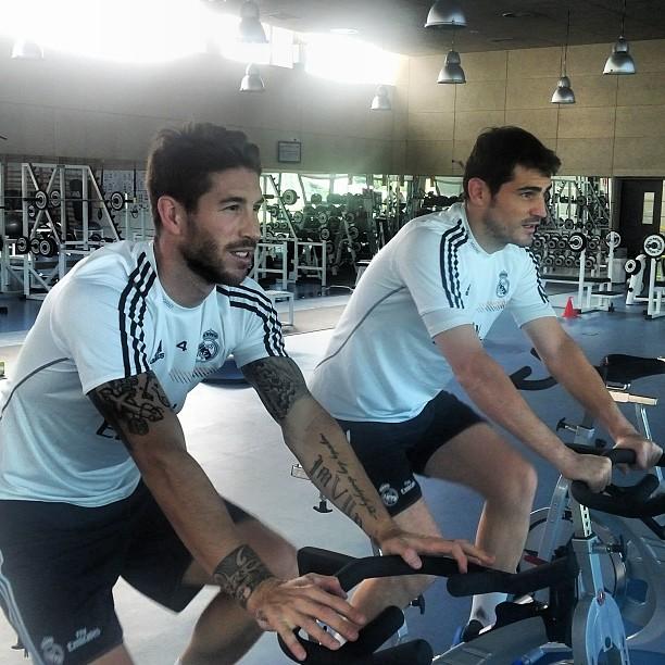 Ramos va Kasilyas mashg'ulotlarni trenajor zalida o'tkazdi