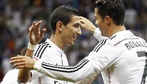 �ngel Di Mar�a y Cristiano Ronaldo celebran un gol