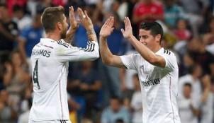 James Rodriguez y Sergio Ramos