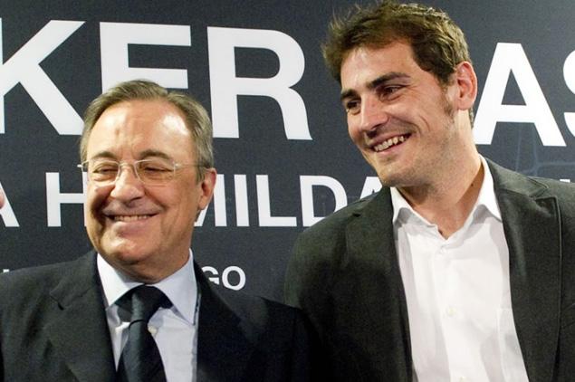 Florentino Pérez e Iker Casillas