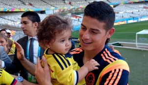 James con su hija Salom�