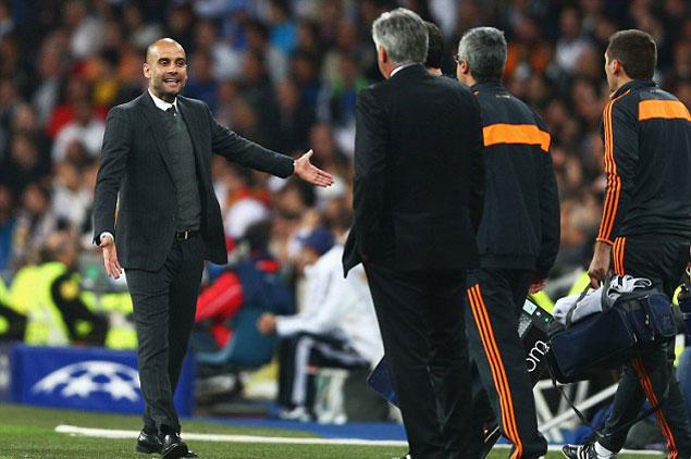 �������� ���� ����� ������ �� ����� ����� ������ . Guardiola_Ancelotti_