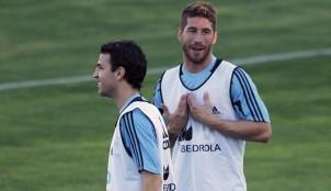 Cesc F�bregas y Sergio Ramos