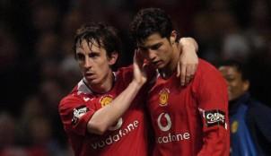 Cristiano Ronaldo y Gary Neville