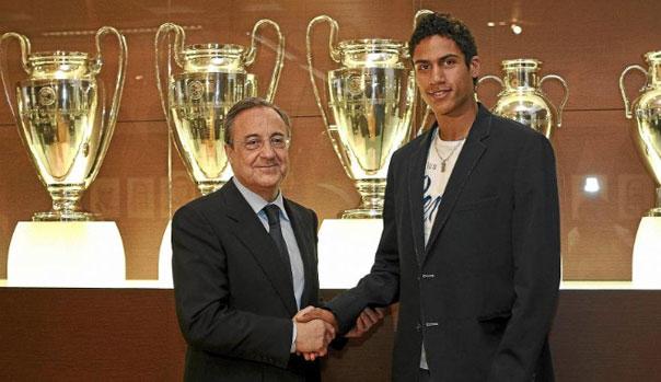 Raphael Varane y Florentino P�rez