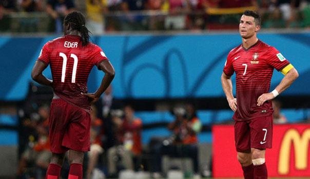 Eder y Cristiano Ronaldo