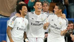 Marcelo, James y Cristiano