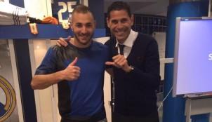 Karim Benzema y Fernando Hierro