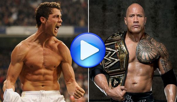 Cristiano Ronaldo y 'La Roca'