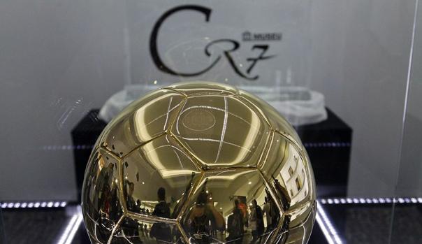 El Bal�n de Oro en el Museo de Cristiano Ronaldo