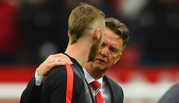 Louis Van Gaal y David De Gea