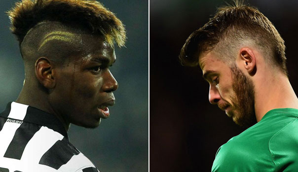 Paul Pogba y David De Gea