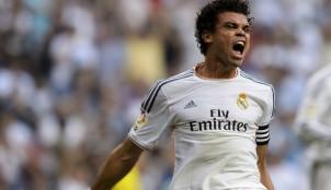 Pepe celebra un gol