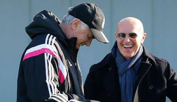 Arrigo Sacchi y Carlo Ancelotti