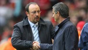 Rafa Ben�tez y Jos� Mourinho
