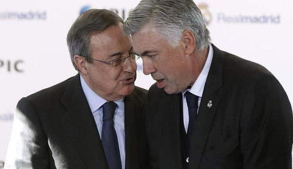 Carlo Ancelotti y Florentino P�rez