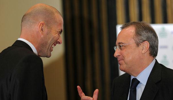 Zinedine Zidane y Florentino P�rez