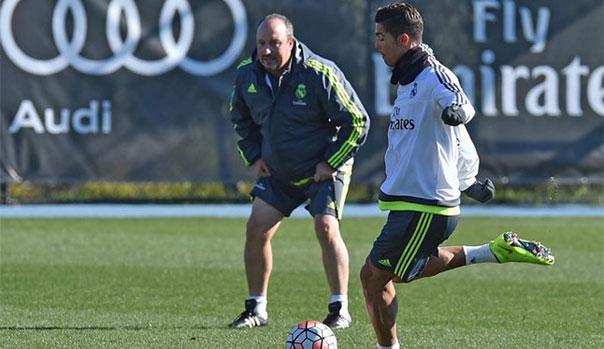 Cristiano Ronaldo y Rafa Ben�tez