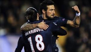 Lavezzi y Zlatan Ibrahimovic