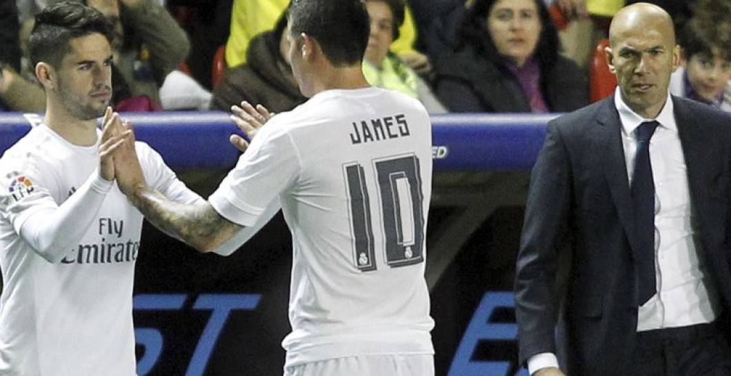 Isco, James, Zidane banquillo