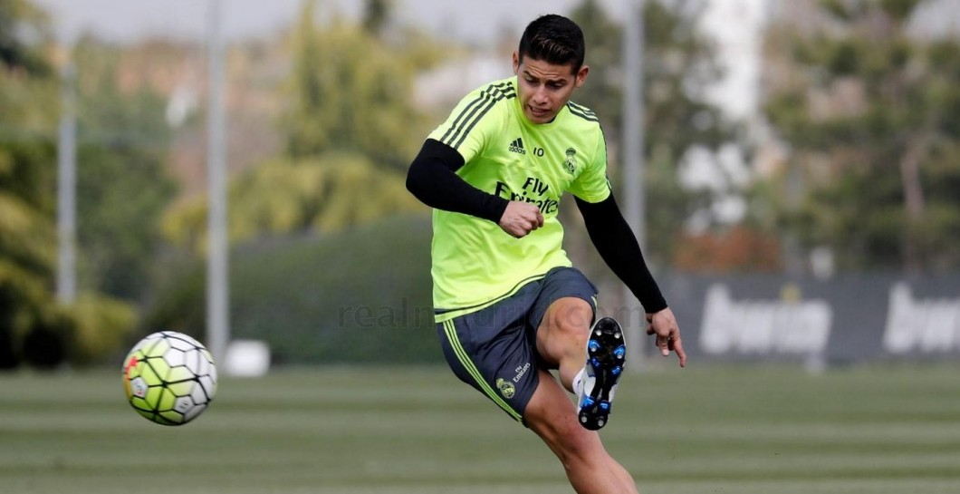 James, Real Madrid, entrenamiento