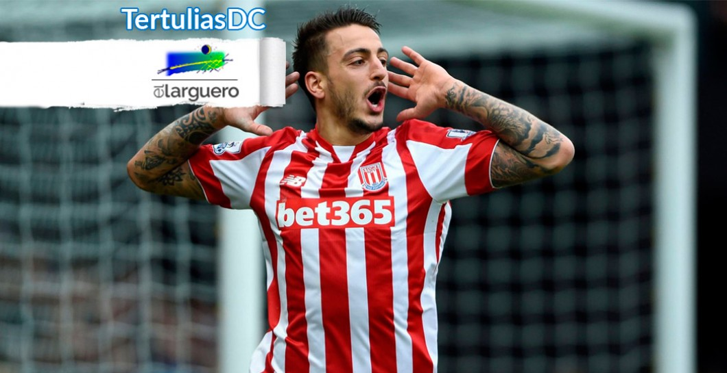 Joselu, Stoke City, El Larguero