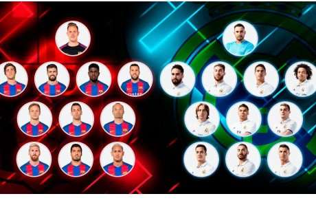 Onces, Barcelona, Real Madrid