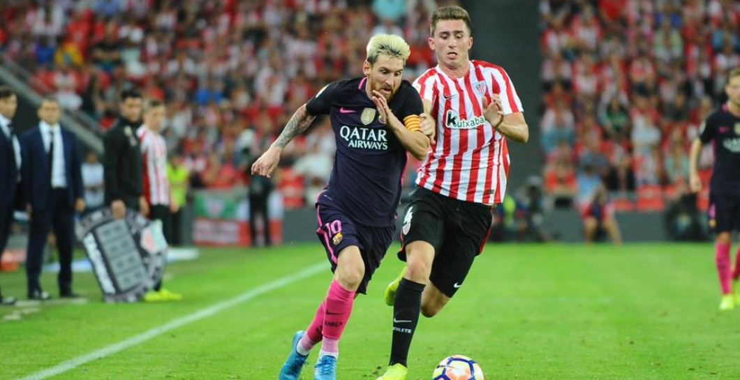 Messi en un partido ante el Athletic de esta temporada