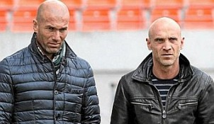 Zinedine Zidane y David Bettoni