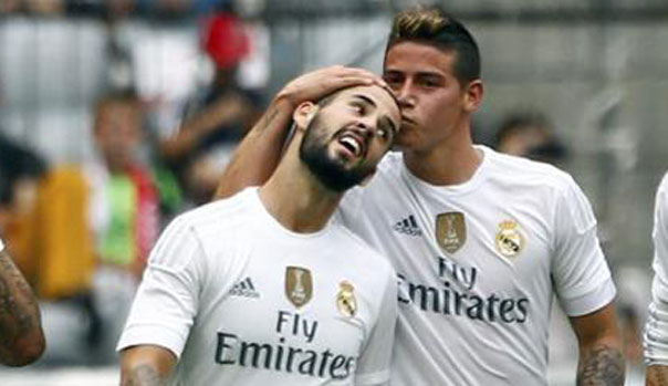 James Rodr�guez e Isco