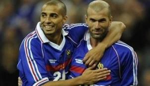 Zidane con Trezeguet