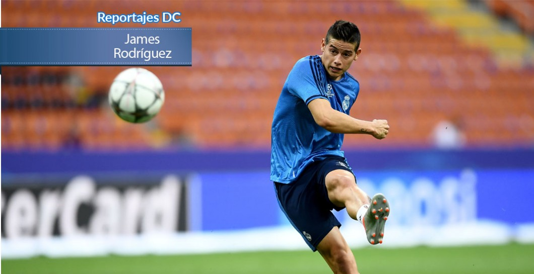 James en un entrenamiento con el Madrid