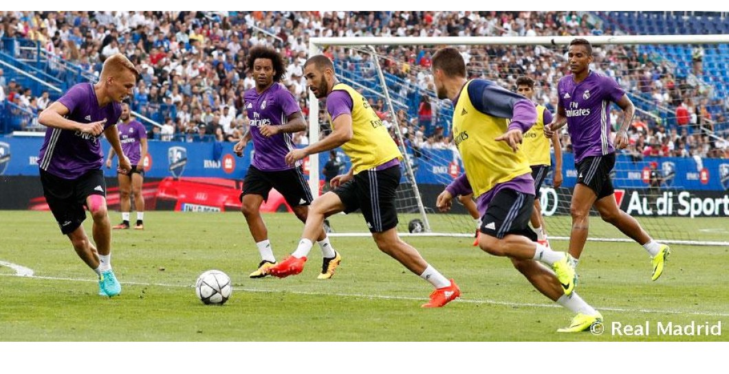 Entrenamiento, Real Madrid, Columbus