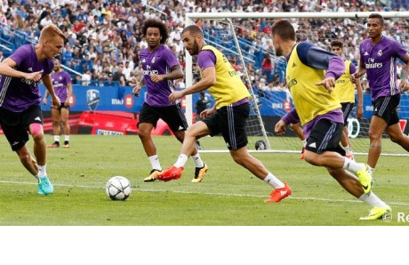 Entrenamiento Real Madrid en Columbus