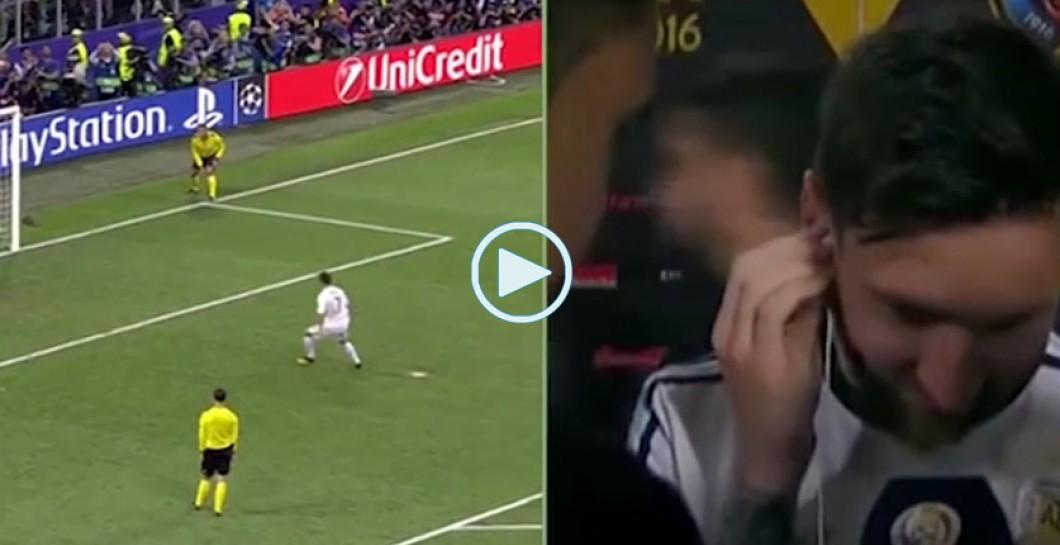 Así 'vivió' Messi el gol de Cristiano para darle la Undécima al Madrid