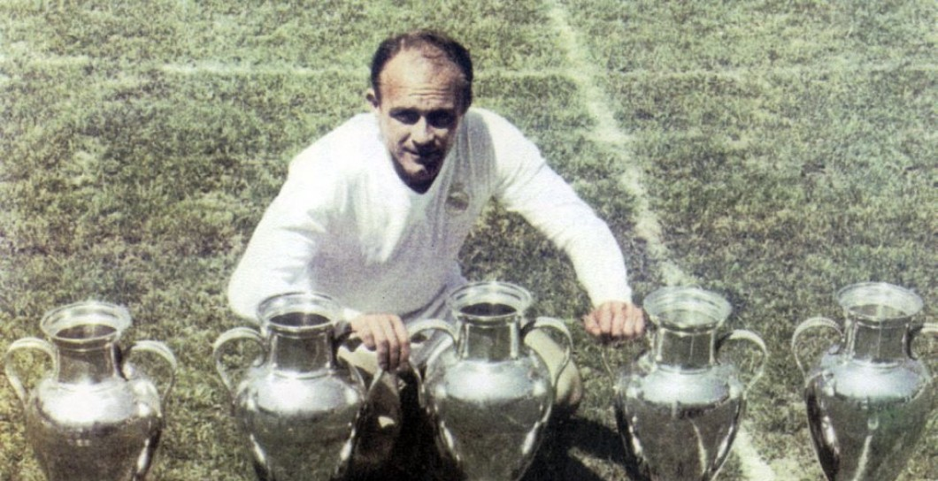 Di Stéfano, cinco, Copas de Europa, Real Madrid