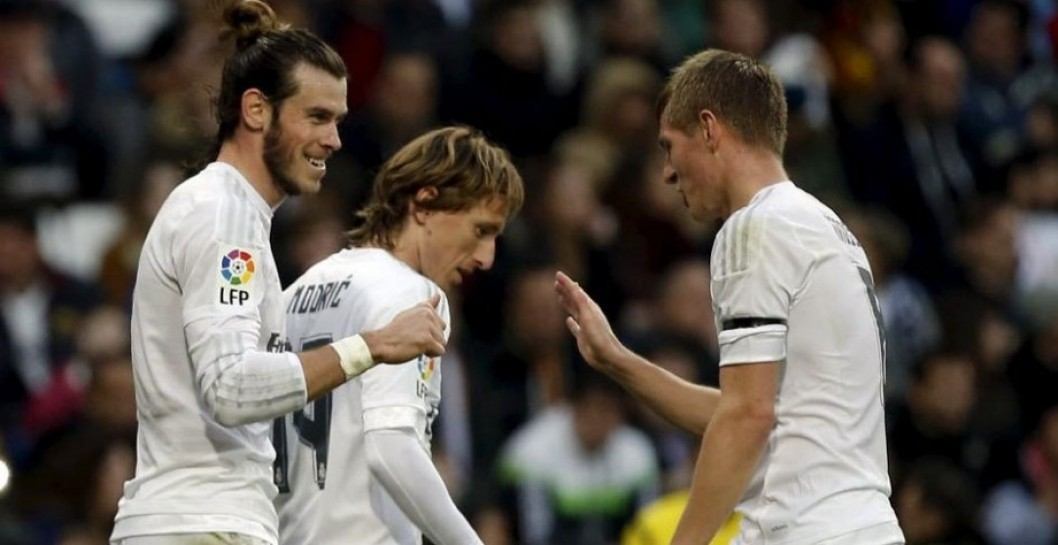 Kroos, Modric, Bale, Real Madrid