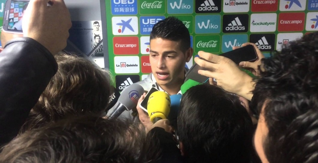 James, zona mixta, Real Madrid