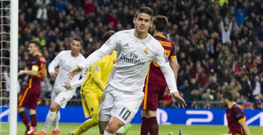 James, gol, Roma, Real Madrid