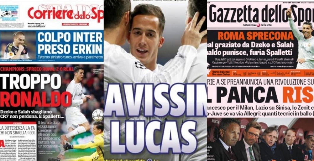 Prensa internacional, Real Madrid, Roma