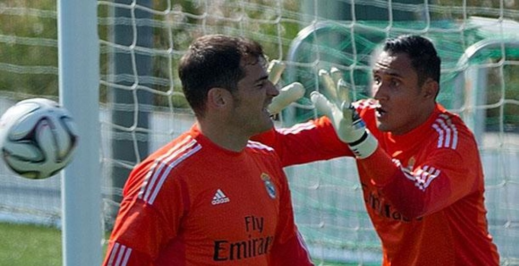 Casillas, Keylor Navas, entrenamiento, Real Madrid