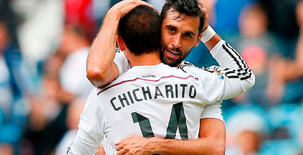 Chicharito y Arbeloa