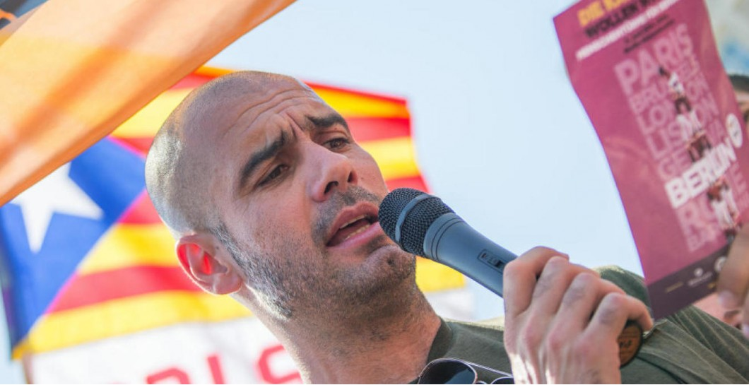 Guardiola en un acto independentista