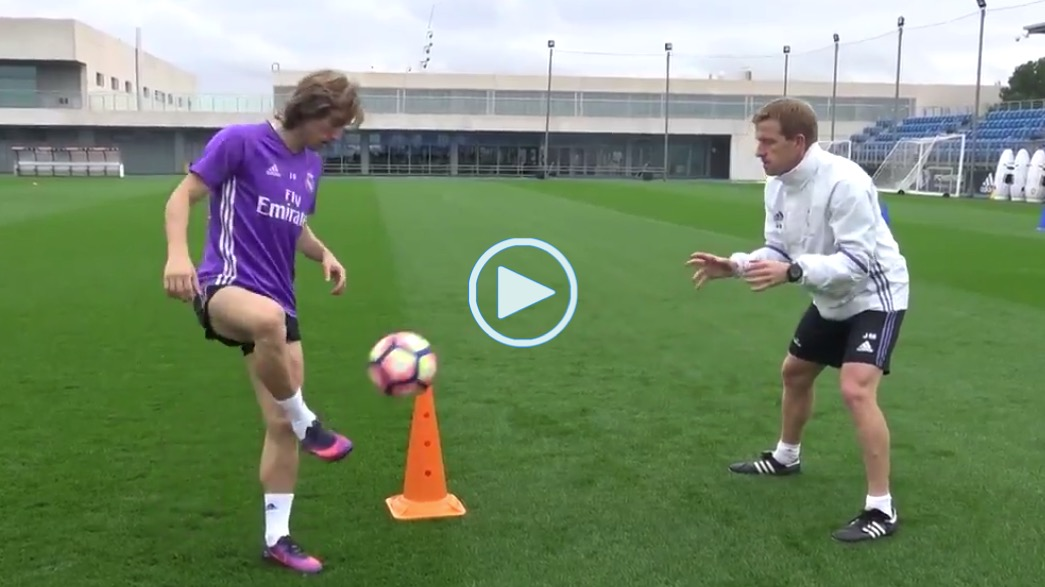 Modric, entrenamiento, video
