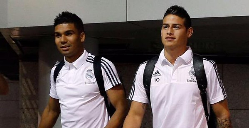 Casemiro y James Rodríguez