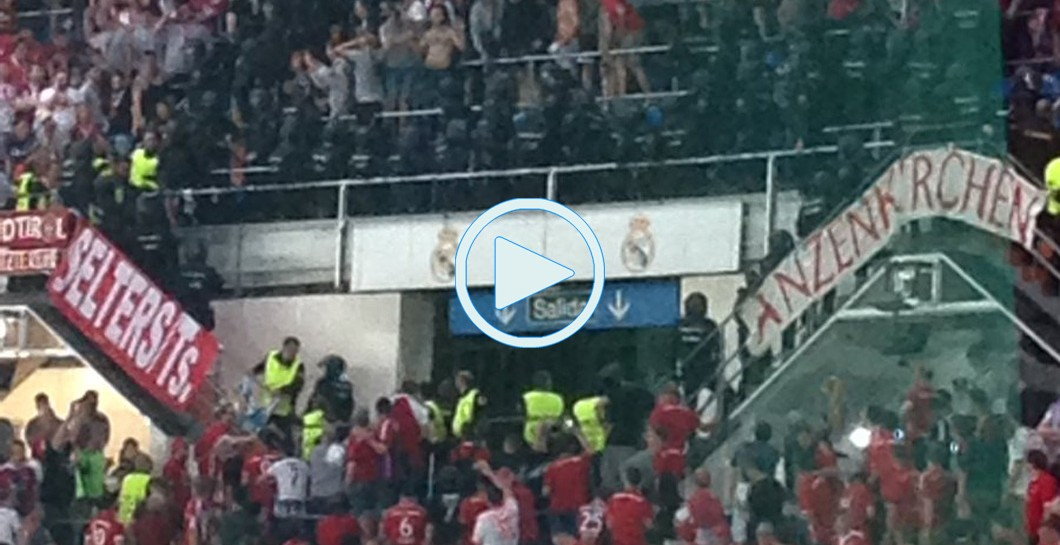 Bayern de Múnich, Real Madrid, ultras, video