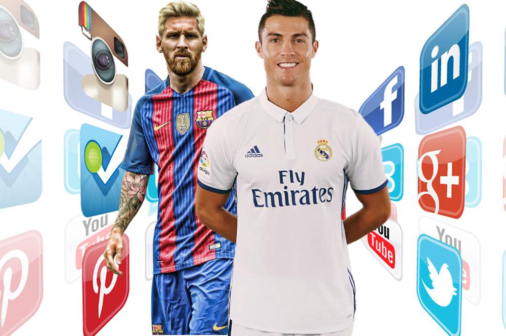 Cristiano, Messi, Red Social