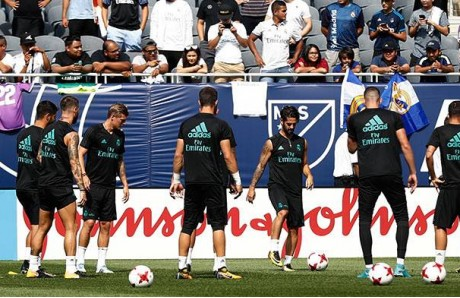 Entrenamiento del Real Madrid en Chicago